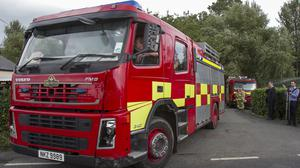 The Northern Ireland Fire Service was tackling the blaze