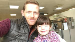 Chris Brannigan wants to raise around £2.5m through his barefoot trek across the United States as he bids to fund gene therapy for his daughter Hasti