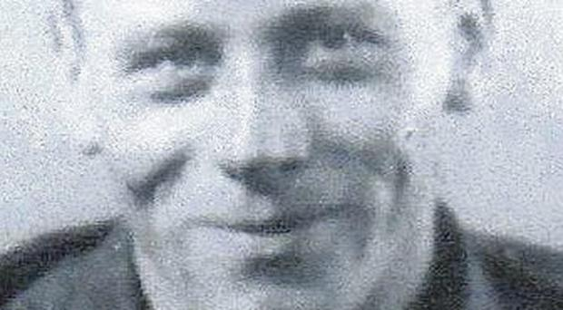 Richard Keegan pictured during his World War Two service