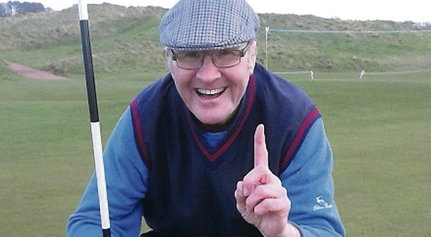 David after his hole-in-one earlier this year