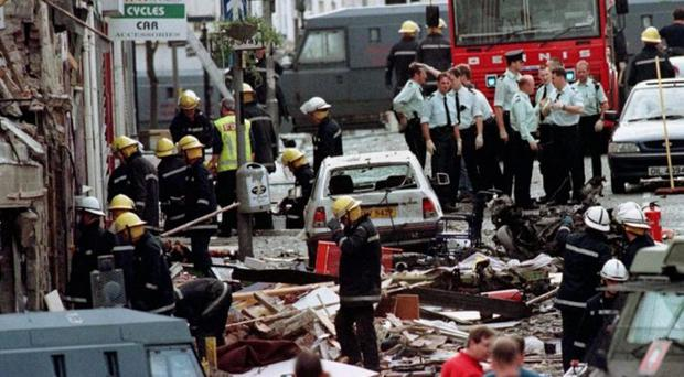 The carnage wrought by the Omagh bomb in 1998