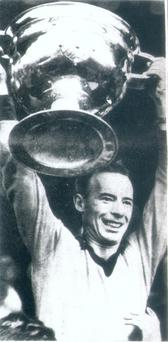 Down captain Joe Lennon shown in 1968 lifting the Sam Maguire Cup