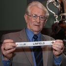Ivan Foster helps make the draw for the Irish Cup in 2008
