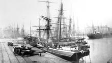 A sea of masts in the era of sail