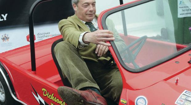 Ukip leader Nigel Farage at the opening day of the Balmoral Show