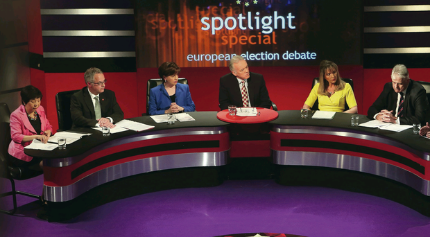 The front-runners taking part in last night's lively debate on Spotlight
