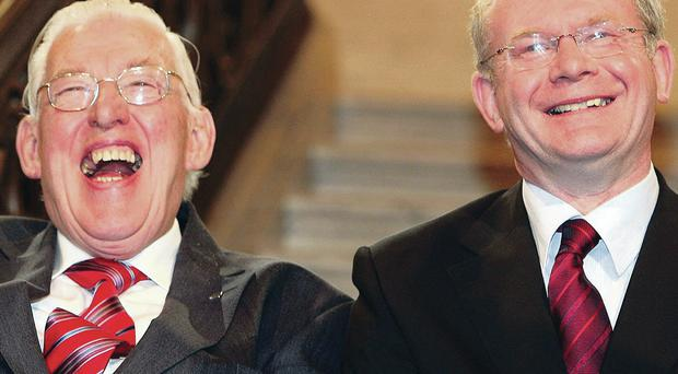 Chuckle Brothers: Ian Paisley with Martin McGuinness during their time as First Minister and Deputy First Minister