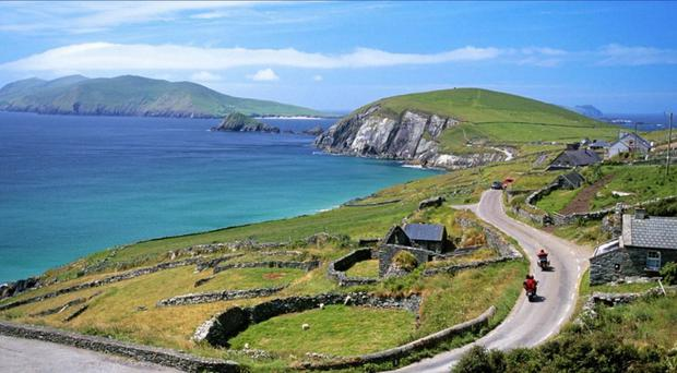 The Wild Atlantic Way slaloms through more than 1,500 miles of countryside in the west of Ireland