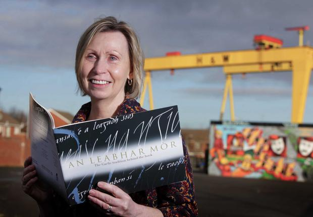 Linda Ervine is one of a growing number of people helping to bring the Irish language to Protestants in east Belfast