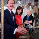 The Camerons tour the Game of Thrones production offices at Paint Hall