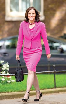Theresa Villiers arrives at Downing Street to meet the Prime Minister yesterday