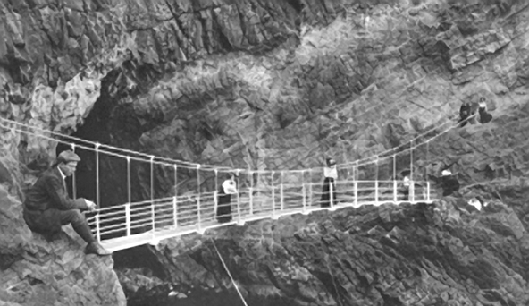 The Gobbins cliff path back in its heyday