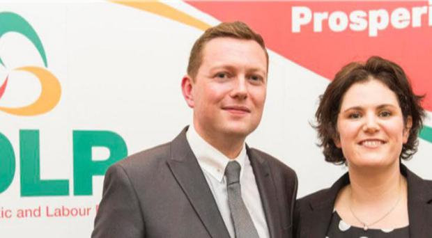 SDLP MLA Claire Hanna with her husband, Donal Lyons