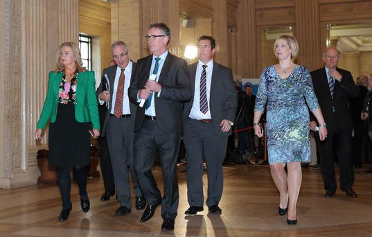 Mike Nesbitt leads the Ulster Unionist delegation