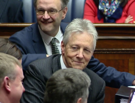 Outgoing First Minister, Peter Robinson