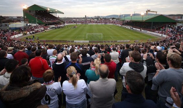 Glentoran's ground the Oval could benefit from a £10m facelift