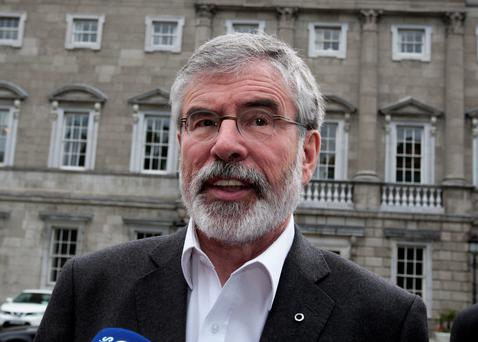 Staying put: Gerry Adams