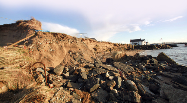 Signs of erosion at Magilligan Point
