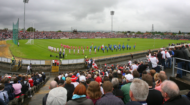 A full house for Tyrone v Derry at Casement Park in 2009