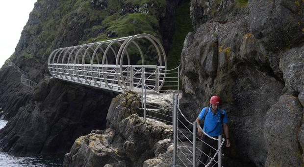 One of many bridges on the Gobbins