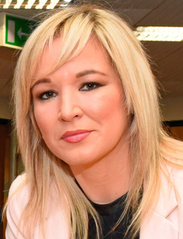 Under fire: Health Minister Michelle O'Neill