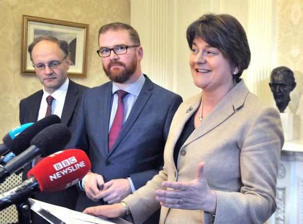 First Minister Arlene Foster at Stormont Castle