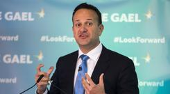 Taoiseach Leo Varadkar launching the Fine Gael general election campaign (Liam McBurney/PA)