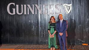 The Duke and Duchess of Cambridge arrive for a reception at the Guinness Storehouse in Dublin (Niall Carson/PA)