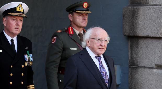 President Michael D Higgins at the National Day of Commemoration Ceremony in Dublin (Brian Lawless/PA)
