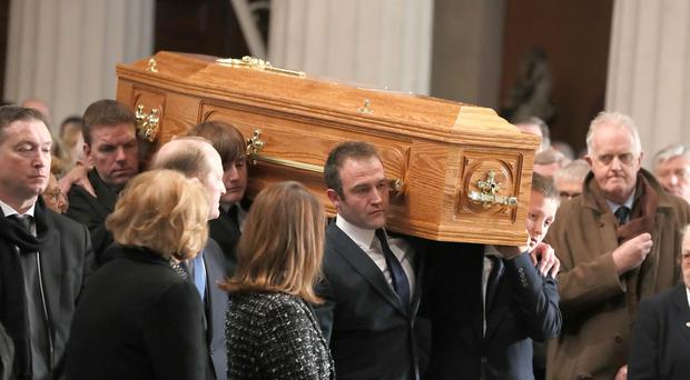 Gay Byrne's funeral (Brian Lawless/PA)