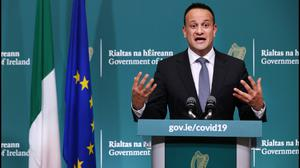Taoiseach Leo Varadkar announced tougher measures in the fight against Covid-19 (Niall Carson/PA)