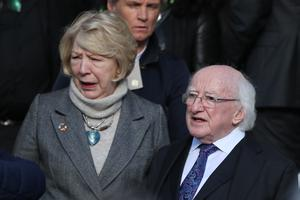 President Michael D Higgins and his wife Sabina Higgins have congratulated Joe Biden on his US election victory (Brian Lawless/PA)
