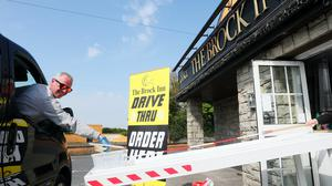 A Dublin restaurant has opened a drive-through service during the coronavirus lockdown (Brian Lawless/PA)