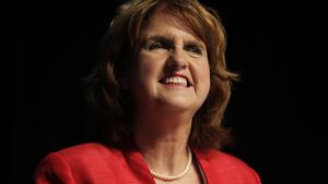 Joan Burton estimated the tap tax would cost the average family less than 200 euro a year