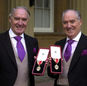 Twins Sir David, left, and Sir Frederick Barclay said the allegations were designed to tarnish their reputations and embarrass them