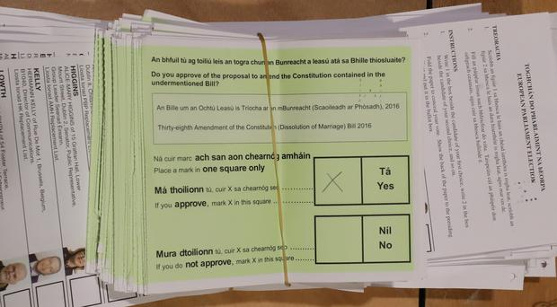 Ireland's divorce laws are set to change to a reduced mandatory separation time for couples following a landslide referendum vote (Niall Carson/PA)