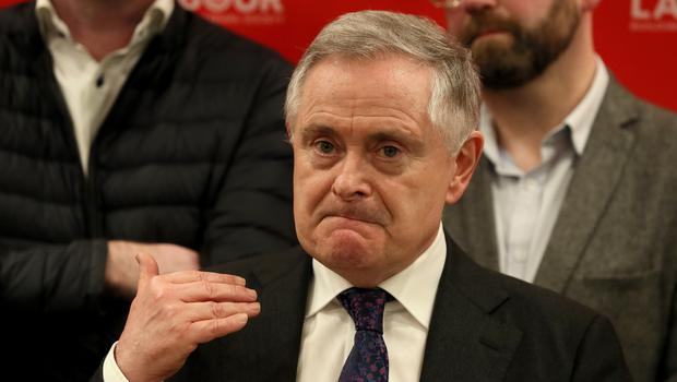 Labour's Brendan Howlin announced he would be stepping down as party leader in the coming weeks (Brian Lawless/PA)