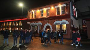 The attack happened outside the Albert pub