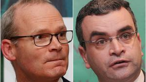 Simon Coveney and Dara Calleary (Phil Noble/Niall Carson/PA)