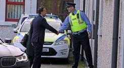 Taoiseach Leo Varadkar arrives at Drogheda Garda Station in Co Louth (Brian Lawless/PA)