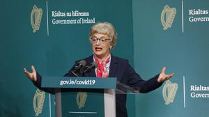 Minister for Children Katherine Zappone at Government Buildings (Leon Farrell/Photocall Ireland)