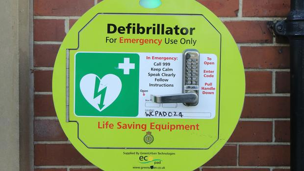 The use of a defibrillator is one of seven steps laid out by the HSE (Chris Radburn/PA)