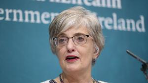 Children's Minister Katherine Zappone at Government Buildings in Dublin (PA)