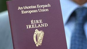 The number of Irish passports issued this year dropped by 60% compared to last year, new figures show (PA)