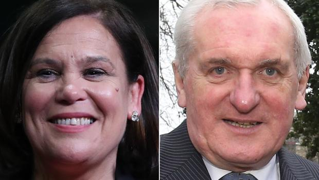 Mary Lou McDonald and Bertie Ahern (Niall Carson/Brian Lawless/PA)