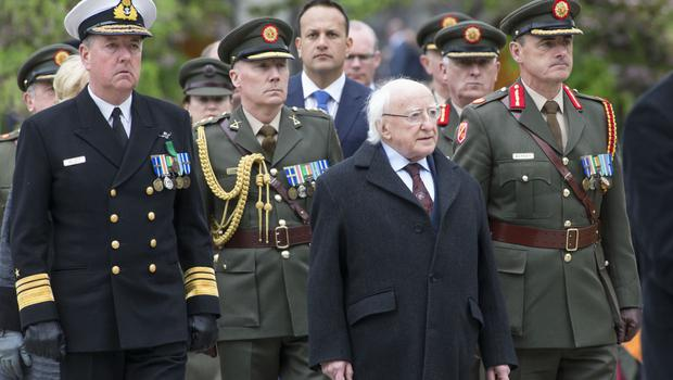 President Michael D Higgins at The 1916 Leaders Commemoration at Arbour Hill