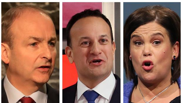 Micheal Martin, Leo Varadkar and Mary Lou McDonald have made some memorable remarks during the election campaign (PA)