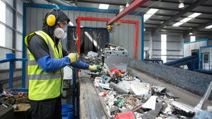 WEEE Ireland has warned that difficulties in recycling electrical waste from household clearouts during lockdown could derail Ireland's compliance with EU targets (PA)