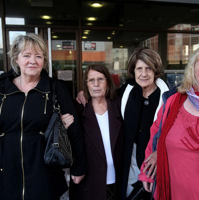 Survivors of the Magdalene Laundries (left to right) Maureen Sullivan, Mary McManus, Kitty Jennette and Mary Smith.