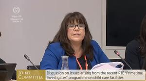 Bernie McNally gave evidence to the Oireachtas Children's Committee (Oireachtas/PA)